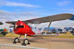 莫斯科,俄罗斯- 2015年8月:I-15 DIT被提出的训练航空器 库存图片