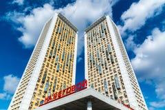 莫斯科,俄罗斯- 4月04 2016年 住宅复杂议院看法Begovaya的 免版税图库摄影