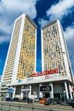 莫斯科,俄罗斯- 4月04 2016年 住宅复杂议院看法Begovaya的 免版税库存图片