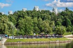 莫斯科,俄罗斯- 6月08 2016年 公园Tsaritsyno全视图在夏天 免版税库存图片