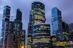 莫斯科,俄罗斯- 2016年7月 商务中心城市莫斯科摩天大楼 库存图片