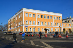 莫斯科,俄罗斯- 2月18 2016年 在Komsomolskaya方形大厦的办公楼1917年 库存图片