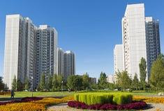 莫斯科,俄罗斯- 9月01 2016年 大花床在Zelenograd在莫斯科,俄罗斯 库存照片