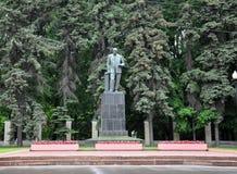 莫斯科,俄罗斯- 5月28 2015年 对院士威廉斯的纪念碑Timiryazev的莫斯科农业学院的 库存照片