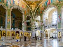莫斯科,俄罗斯- 7月24 2017年 以纪念基督、新的俄国教会的受难者和忏悔者的复活的教会血液的, 免版税库存照片