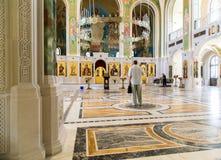 莫斯科,俄罗斯- 7月24 2017年 以纪念基督、新的俄国教会的受难者和忏悔者的复活的教会血液的, 免版税图库摄影