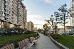 莫斯科,俄罗斯- 11月2 2017年 在新的Arbat的正方形 免版税库存图片