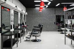 莫斯科,俄罗斯- 10月9 2017年 男性美容院TopGun在Zelenograd 库存照片