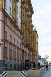 莫斯科,俄罗斯- 11月2 2017年 Novinsky大道的, 21美国使馆 库存图片