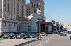 莫斯科,俄罗斯- 9月23 2015年 旅馆拉迪森皇家旅馆,七个斯大林摩天大楼之一 免版税库存照片