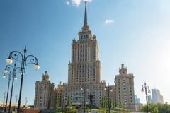 莫斯科,俄罗斯- 5月14 2016年 旅馆拉迪森皇家旅馆,七个斯大林摩天大楼之一 免版税图库摄影
