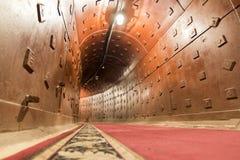 莫斯科,俄罗斯- 2014年11月29日,核地堡,一种前苏联秘密军事设施-备用指挥所长敲响了 免版税库存图片