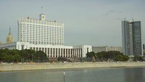 莫斯科,俄罗斯- 2017年6月29日:俄罗斯联邦的政府的议院白宫和Moskva 影视素材