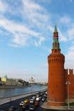 莫斯科,俄罗斯- 2016年9月12日:克里姆林宫的墙壁,城市的看法 免版税库存照片