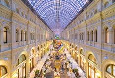 莫斯科,俄罗斯- 2015年12月8日:分泌树液Kitai-gorod的大商店 库存照片