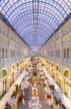 莫斯科,俄罗斯- 2015年12月8日:分泌树液Kitai-gorod的大商店 图库摄影
