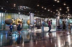 莫斯科,俄罗斯- 2016年5月31日:太空博物馆博览会 库存照片