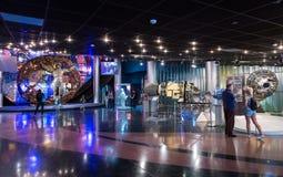 莫斯科,俄罗斯- 2016年5月31日:太空博物馆博览会 库存图片