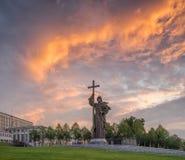 莫斯科,俄罗斯- 2017年7月15日:对圣洁王子Vlad的纪念碑 库存图片