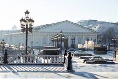 莫斯科,俄罗斯- 2017年1月11日:展示厅 免版税库存照片