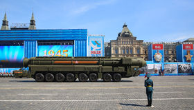 莫斯科,俄罗斯- 2015年5月07日:排练庆祝第70 库存照片