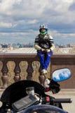 莫斯科,俄罗斯- 2016年4月23日:摩托车骑士开始季节 免版税库存照片