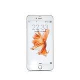 莫斯科,俄罗斯- 2015年10月06日:新的白色iPhone 6 s 免版税库存图片