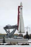 莫斯科,俄罗斯- 2016年11月15日:沃斯托克太空火箭 库存图片