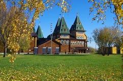 莫斯科,俄罗斯- 2015年10月21日:沙皇阿列克谢米哈伊尔宫殿  免版税图库摄影