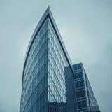 莫斯科,俄罗斯- 2016年9月13日:现代玻璃摩天大楼在商业中心 免版税图库摄影