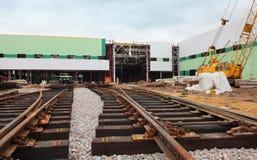 莫斯科,俄罗斯- 2013年5月28日:铁路d的建筑 库存照片