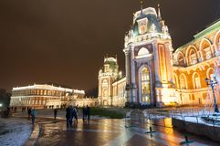 莫斯科,俄罗斯1月06日:1月06,2018的Tsaritsyno主要博物馆和公园储备 库存图片