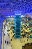 莫斯科,俄罗斯- 2015年12月8日:Aviapark商城内部  免版税图库摄影