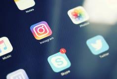 莫斯科,俄罗斯- 2016年9月15日:Instagram是一网上phot 免版税图库摄影