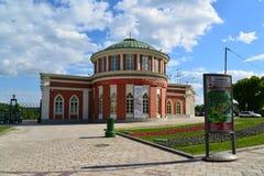 莫斯科,俄罗斯- 2016年6月08日 在博物馆庄园Tsaritsyno的行政大厦 图库摄影