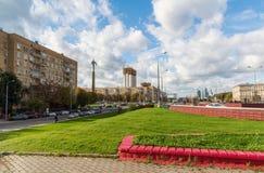 莫斯科,俄罗斯10月01日 2016年 在路隧道的加加林广场 免版税库存照片