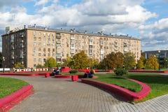 莫斯科,俄罗斯10月01日 2016年 在路隧道的加加林广场 图库摄影