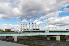 莫斯科,俄罗斯10月01日 2016年 热力国际性组织和分区供暖驻防红普列斯尼亚 免版税库存照片