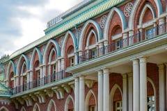 莫斯科,俄罗斯- 2016年6月08日 盛大宫殿的片段Tsaritsyno博物馆储备的 免版税图库摄影