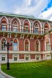 莫斯科,俄罗斯- 2016年6月08日 盛大宫殿的片段Tsaritsyno博物馆储备的 库存图片