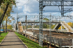 莫斯科,俄罗斯10月01日 2016年 Octyabrskaya铁路的Nati驻地 库存图片