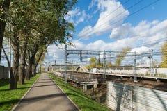 莫斯科,俄罗斯10月01日 2016年 Octyabrskaya铁路的Nati驻地 免版税库存图片