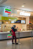 莫斯科,俄罗斯- 2015年10月25日 Sbarro餐馆在Zelenograd铱的一个购物中心 免版税库存照片