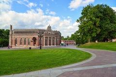 莫斯科,俄罗斯- 2016年6月08日 Tsaritsyno博物馆庄园的第二骑兵军  库存照片