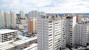 莫斯科,俄罗斯- 2月18 2016年 看法Zelenograd在冬天 影视素材