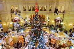 莫斯科,俄罗斯2016年1月-17 :圣诞节装饰商店胶 免版税图库摄影
