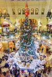 莫斯科,俄罗斯2016年1月-17 :圣诞节装饰商店胶 图库摄影