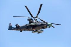 莫斯科,俄罗斯- 5月08 :直升机钾52 免版税库存照片