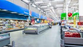 莫斯科,俄罗斯- 11月15 :11月的购物中心Lenta 免版税库存图片