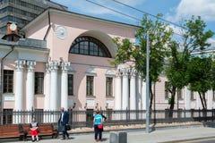莫斯科,俄罗斯- 6月02 2016年 Lobanov-Rostovsky前庄园是在Myasnitskaya街上的建筑纪念碑 库存照片